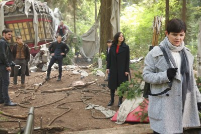 "ONCE UPON A TIME ""The Savior"" As ""Once Upon a Time"" returns to ABC for its sixth season, SUNDAY, SEPTEMBER 25 (8:00 9:00 p.m. EDT), on the ABC Television Network, so does its classic villain the Evil Queen. (ABC/Jack Rowand) COLIN O'DONOGHUE, HANK HARRIS, JOSH DALLAS, JENNIFER MORRISON, JARED S. GILMORE, LANA PARRILLA, GINNIFER GOODWIN"