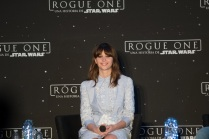 MEXICO CITY – November 22: Felicity Jones at the press conference of ROGUE ONE: A STAR WARS STORY press tour at the St. Regis Hotel, Mexico City.