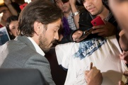 MEXICO CITY – November 22: Diego Luna (Captain Cassian Andor) greets fans at the black carpet of the ROGUE ONE: A STAR WARS STORY fan event in Mexico City.