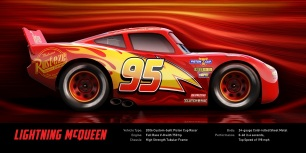 CARS 3...Lightning McQueen (voice of Owen Wilson)..Lightning McQueen is world champion—a modern day racing legend who's riding high with five Piston Cup wins under his hood. Suddenly, he finds himself faced with a new generation of racers who threaten not only his dominance in the sport—but the confidence that got him there. Determined to get back to the pole position, the #95 must decide if his love for racing is enough to fuel the comeback of his life...©2016 Disney•Pixar. All Rights Reserved.