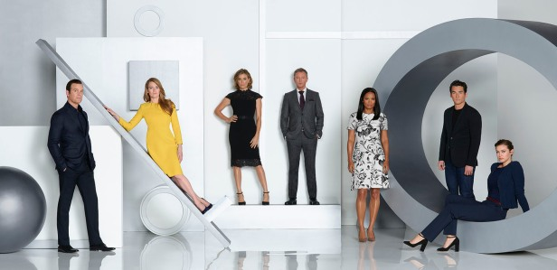 "THE CATCH ABC's ""The Catch"" stars Peter Krause as Benjamin, Mireille Enos as Alice, Sonya Walger as Margot, John Simm as Rhys, Rose Rollins as Valerie, Jay Hayden as Danny and Elvy Yost as Sophie. (ABC/Bob D'Amico)"